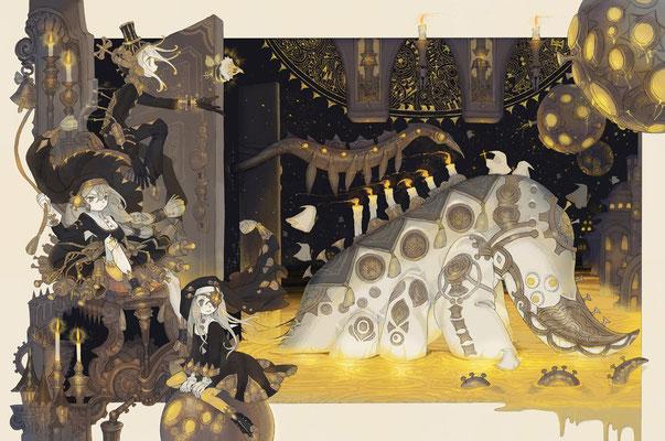 星のからくり月の海 - 2016(季刊エス55号描き下ろしイラスト)