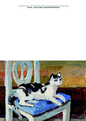 OVDKHSTM10008 Katze auf Stuhl