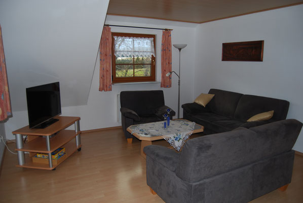 Wohnzimmer in der Ferienwohnung im Jörgenhof