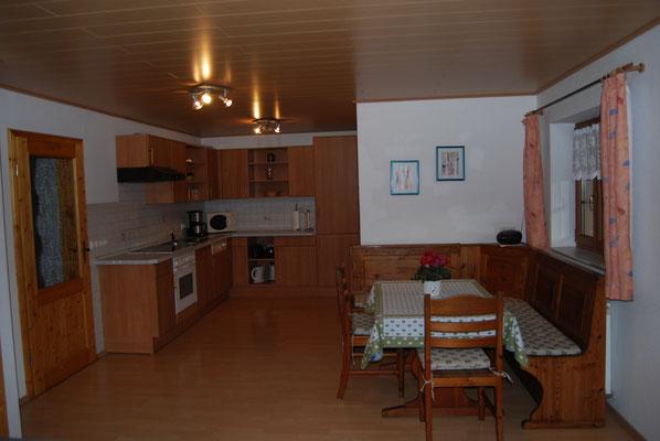 Wohnküche in der Ferienwohnung im Jörgenhof