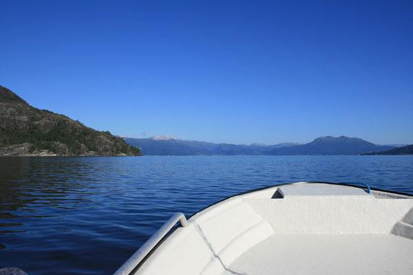 ... danach strahlend blauer Himmel - perfekt für einen Bootsausflug.