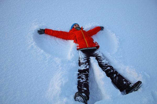 Schneeengel, das muss man mal auf einem zugefrorenen See gemacht haben!