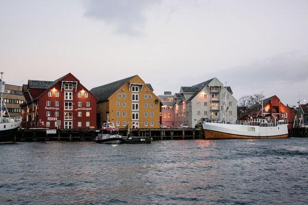 Die Speicherhäuser von Tromsø.