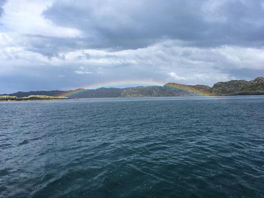... dann der schöne Regenbogen...