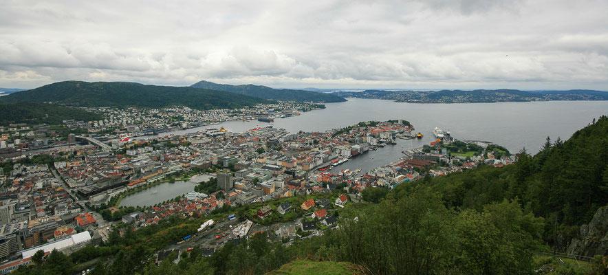 Ausblick über Bergen.