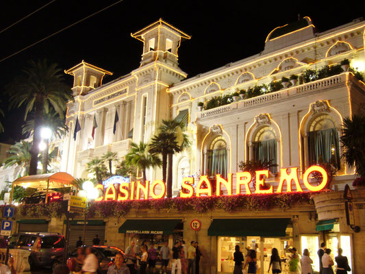 Casino of Sanremo at night