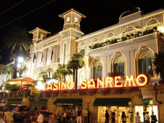 Casino of Sanremo at night