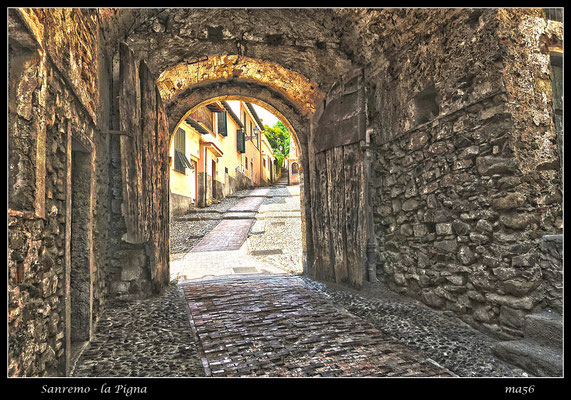 """La Pigna"", the old medieval section of the town"