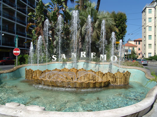 Fountain near Piazza Colombo, the very centre of Sanremo