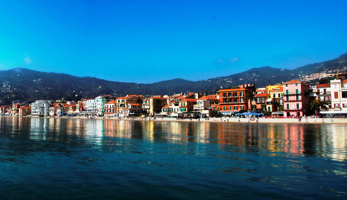 Alassio seen from the sea
