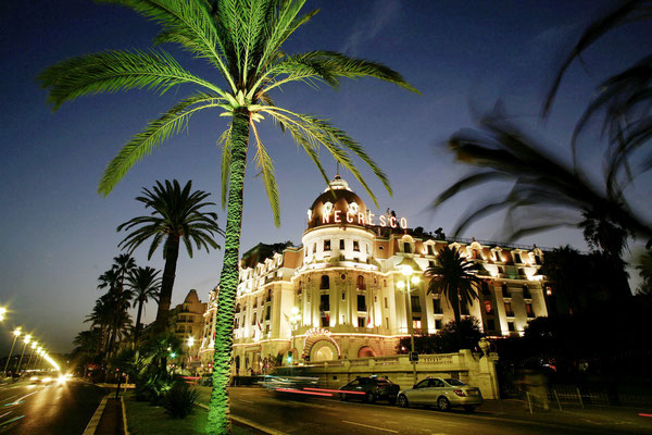The Negresco at night