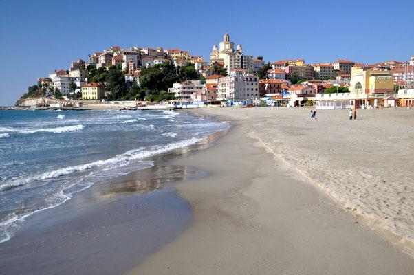 Parasio as seen from the Spiaggia d'oro beach