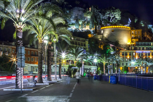 The Castle at Night seen from the Promenade des Anglais