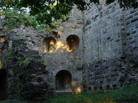 Die Burg im Abendlicht
