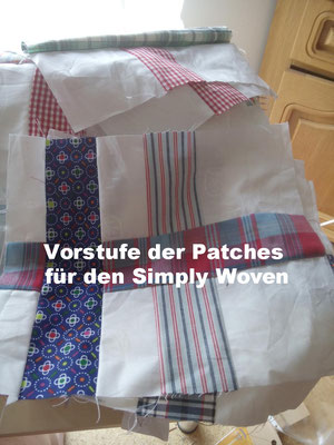 Simply-Woven-Quilt in Arbeit