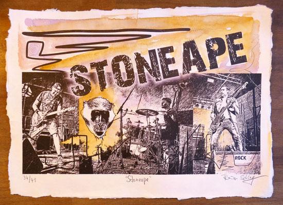 """Reiner Schlag     """"Stoneape""""      34/41"""