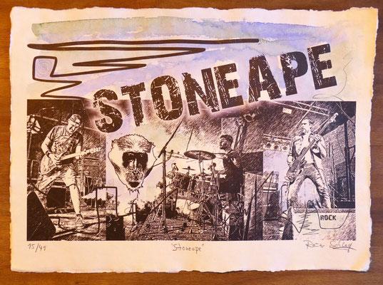 """Reiner Schlag     """"Stoneape""""      15/41"""