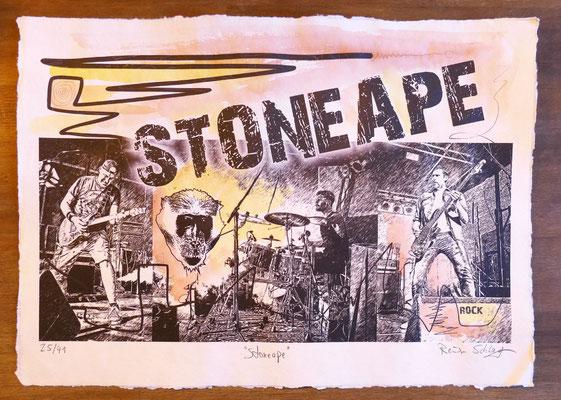 """Reiner Schlag     """"Stoneape""""      25/41"""