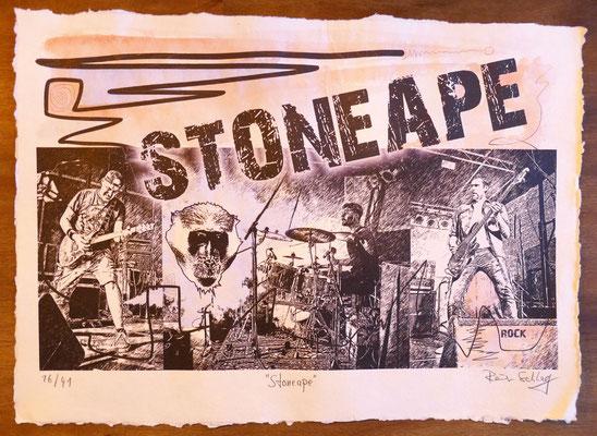 """Reiner Schlag     """"Stoneape""""      16/41"""