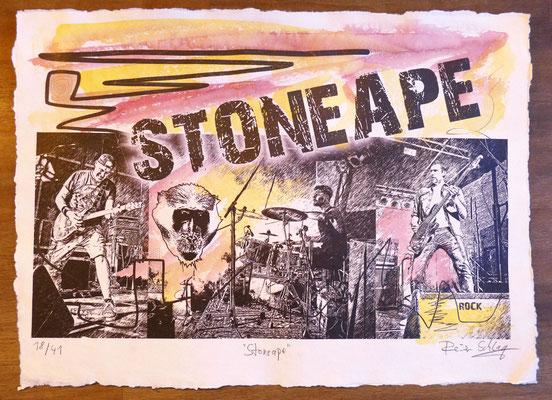 """Reiner Schlag     """"Stoneape""""      18/41"""