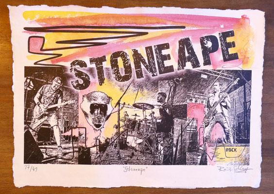 """Reiner Schlag     """"Stoneape""""      17/41"""
