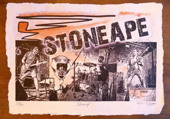 """Reiner Schlag     """"Stoneape""""      38/41"""