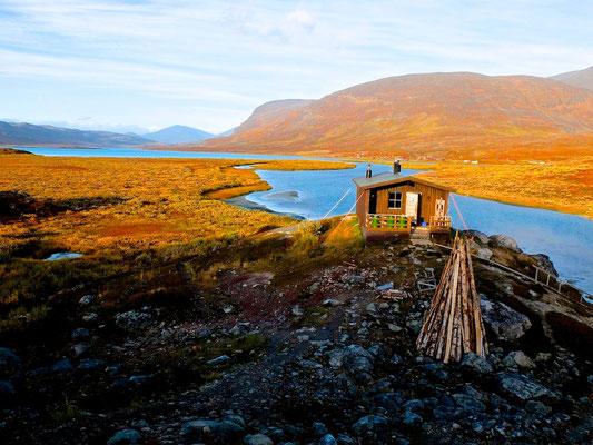 Hiking on Kungsleden- Lappland - Sweden - © François Struzik - simply human 2014 - Alesjaure bastu sauna