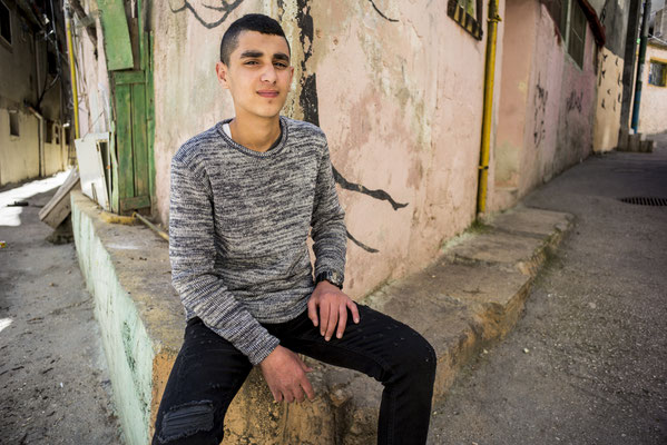 Muhammad, 19 years old - The Youngsters of Aida Camp, Bethlehem, Palestine © François Struzik - simply human 2018