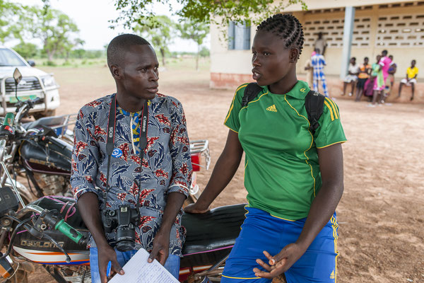 Working with Young reporters for Plan International Belgium, Thomas, Benin © François Struzik - simply human 2017