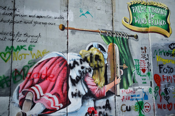 Mur de séparation, Bethlehem, Palestine © Olga Struzik Pränting, 2019