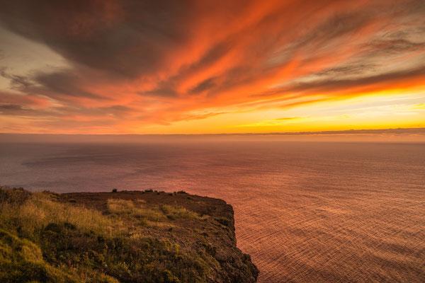 Abends beim Leuchtturm von Ponta do Pargo, Madeira