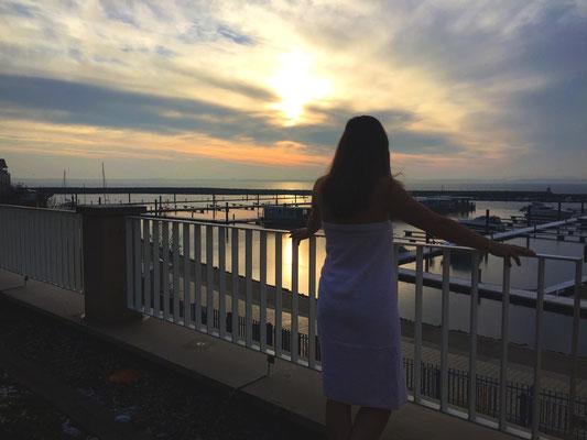 Blick auf den Hafen Weiße Wiek
