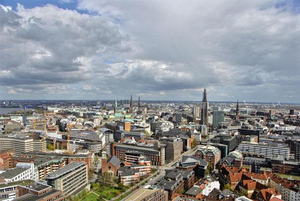 Ausblick auf Hamburg