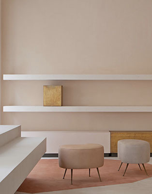 Love this European picture of floating shelves