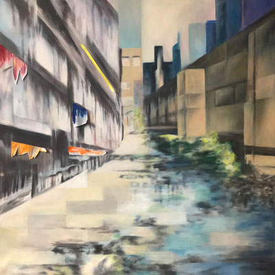 Sommer on the city 100x100 cm