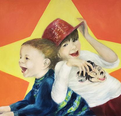 Elisa & Leonard 80x80 cm