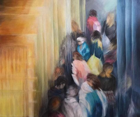 Art fair, 120x100 cm