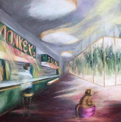 Monkey`s Island 80x80cm