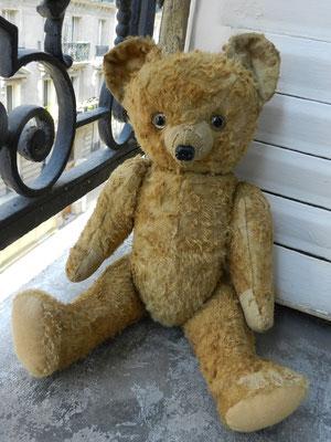 Réparation, restauration d'un petit ours français -après son opération