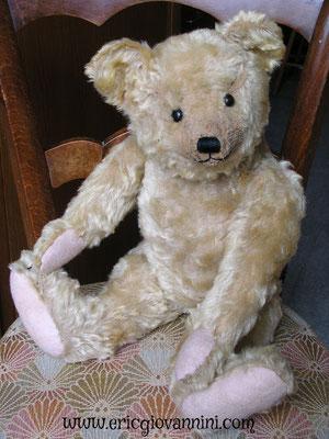 Notre ours ancien opéré, de retour de la Clinique pour ours et poupées d'Eric Giovannini