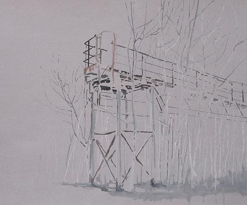 Wherever, 75 cm x 90 cm, Tempera/Buchbinderpappe, 2011