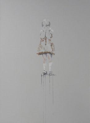 o.T. 70 x 50 cm, Tempera/LW, 2018