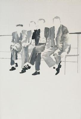 o.T.,50 cm x 35 cm, Tempera/LW, 2018