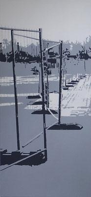 zwischenraumzwischenzeit#1, 200 cm x 100 cm, Acryl/LW, 2013