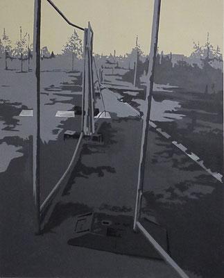zwischenraumzwischenzeit#3, 123 cm x 110 cm, Acryl/Tempera/LW, 2015