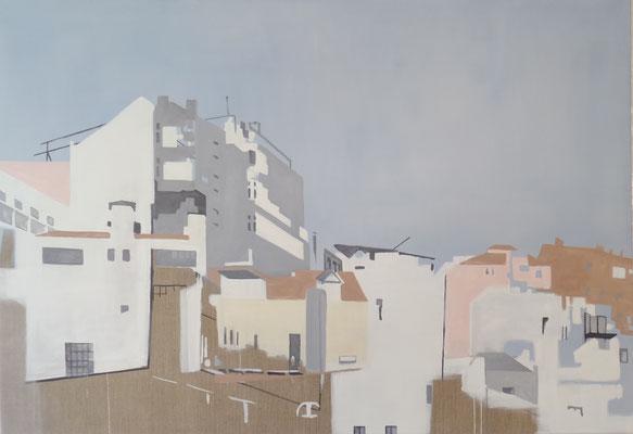 Lissabon, 110 cm x 135 cm, Tempera/Öl/LW, 2018