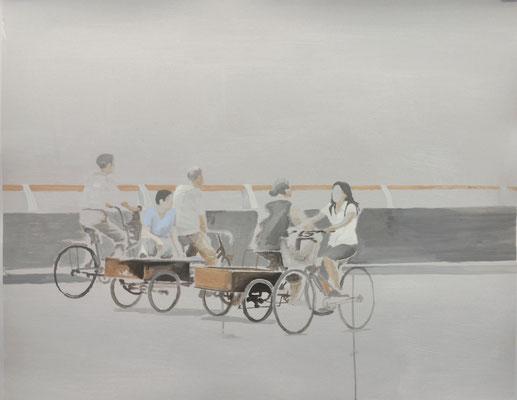 o.T., 80 cm x 100 cm, Tempera/Buchbinderpappe, 2008