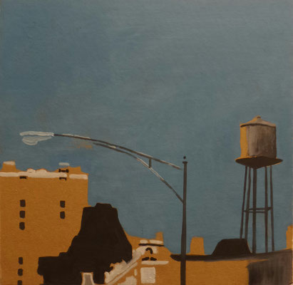 chicago, 30 cm x 30 cm, Öl/Pappwabenplatte,