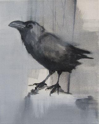 crow#7, 30 x 25 cm, Tempera/LW, 2016,