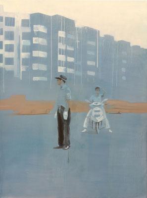 china#4, 135 cm x 100 cm, Tempera/Öl/LW, 2009